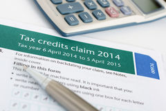 Applying for working tax credit Stock Photography