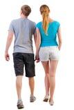 Appoggi la vista di giovani coppie andanti Immagine Stock
