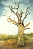 Appoggi un albero fotografia stock