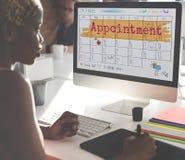 Appointement agendy kalendarza spotkania przypomnienia pojęcie Zdjęcia Royalty Free