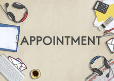 Appointment Agenda Meeting Arrangement Concept Royalty Free Stock Photos