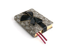 Appointment book. A fancy appointment book wrapped witn a black bow as a gift Stock Image