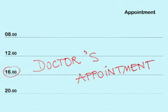 Appointment book Royalty Free Stock Photo