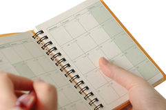 Appointment book Stock Image