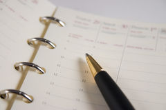 Appointment book Royalty Free Stock Photos