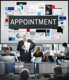 Appointment Calendar Meeting Schedule Concept stock photography