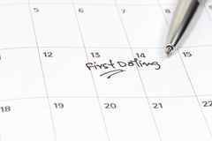 Appointment for date on calendar Royalty Free Stock Photos