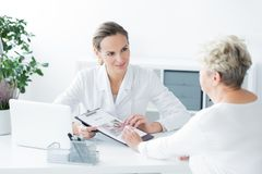 Appointment at dietician`s office Royalty Free Stock Photography