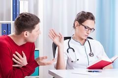 Appointment at the doctor Royalty Free Stock Photos