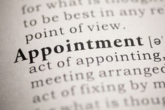 Appointment Stock Photography