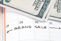 Appointment for grand sale , concept image Stock Photos