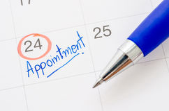 The Appointment handwritten. Royalty Free Stock Images