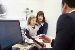 Appointment For Mother And Daughter With Doctor royalty free stock images