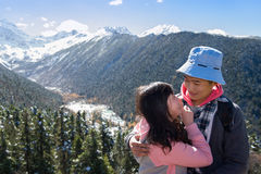 Appointment mountains enamoured of Sichuan Stock Photos