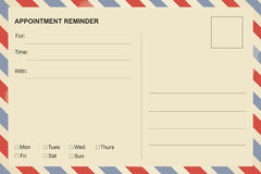 Appointment Reminder postcard Royalty Free Stock Images