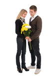 Appointment. The Guy And The Girl With In Love Stock Image