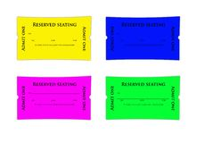 Appointment tickets. Four colorful appointment tickets for doctors or any type of professional to give to their clients.  The lines look like the disappear in Royalty Free Stock Image