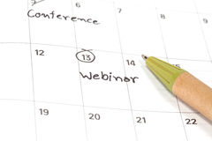 Appointment for webinar, concept image Royalty Free Stock Photo