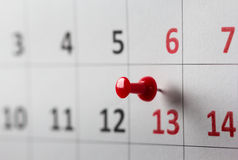 Appointments marked on calendar Stock Images
