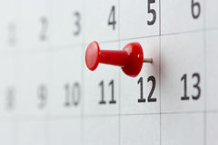 Appointments marked on calendar Stock Image