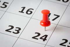 Appointments marked on calendar Stock Photos