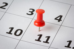 Appointments marked on calendar Royalty Free Stock Photo