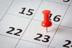 Appointments marked on calendar Royalty Free Stock Photography