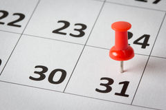 Appointments marked on calendar Royalty Free Stock Images