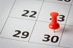 Appointments marked on calendar Stock Photography