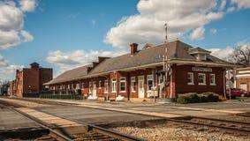 Appomattox, la Virginia, deposito di treno Fotografia Stock Libera da Diritti