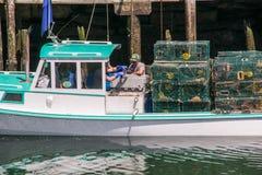 Apport à la maison des homards photo libre de droits