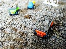 Apportez votre jouet d'imagination du ` s d'enfant pour jouer la construction virtuelle Photographie stock libre de droits