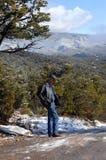 Apprécier la vue de Sandias Photographie stock libre de droits