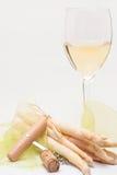 Apprécier le blanc-vin Image libre de droits