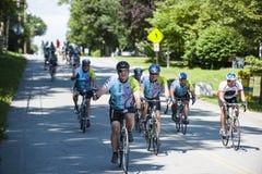 Apprécier le tour de vélo pour la charité Images libres de droits