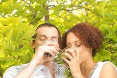 Apprécier le vin Photographie stock libre de droits