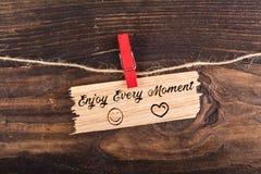 Appréciez chaque moment photo stock