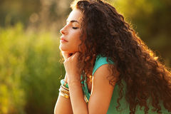 Appréciez en soleil Photo libre de droits