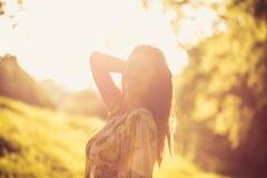 Appréciez en soleil La nature est belle au ressort photos libres de droits