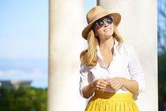 Appréciez l'été dans la ville méditerranéenne photo stock