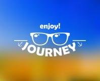 Appréciez l'en-tête de voyage avec le soleil illustration libre de droits