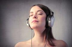Appréciez la bonne musique Images libres de droits
