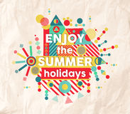 Appréciez la conception d'affiche de citation d'amusement d'été Photo libre de droits