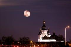 Appréciez la nuit de lune Photos libres de droits