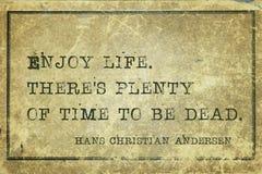 Appréciez la vie Andersen images libres de droits