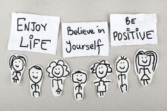 Appréciez la vie, croyez en vous-même, soyez positif photo stock
