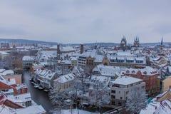 Appréciez la vieille ville de bel Erfurt photo stock