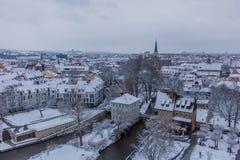 Appréciez la vieille ville de bel Erfurt photos libres de droits