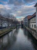 Appréciez la vieille ville de bel Erfurt photographie stock