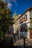 Appréciez la vieille ville de bel Erfurt images stock